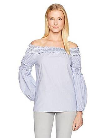 d01862c220233 Max Studio Womens Stripe Smocked Off The Shoulder Shirting