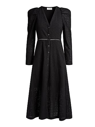 A.L.C. Adler V-neck Midi Dress Black