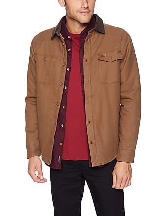 feefbe1670813 Rvca Mens Victory Long Sleeve Shirt Jacket Button, Wood, Medium