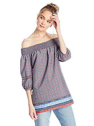 6f672ac4c8dfa0 Ella Moon Womens Talullah 3 4 Sleeve Off the Shoulder Printed Top