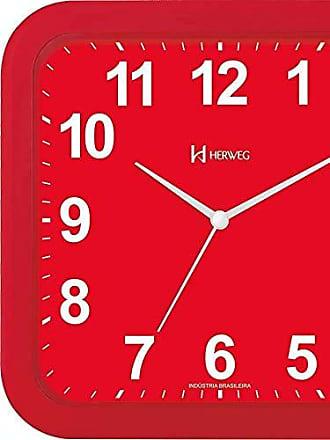 Uhren Herweg RELÓGIO DE PAREDE MODERNO ANALÓGICO MECANISMO STEP HERWEG VERMELHO