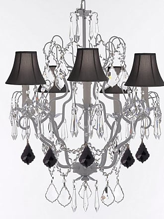 Gallery T22-2663 5 Light 21 Wide Crystal Chandelier with Fabric