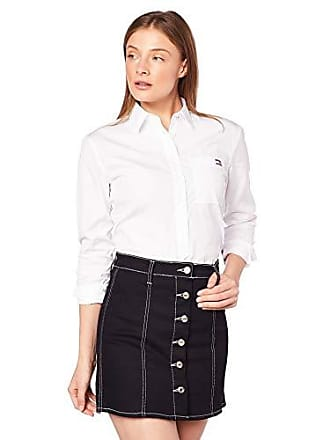 799a01b91e Tommy Hilfiger Monica Shirt LS W4 Camicia, Bianco (Classic White 100), Large