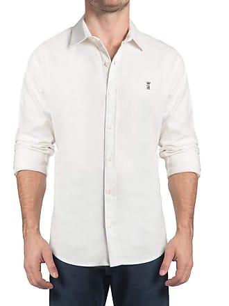 Sergio K. Camisa Linho Rústico Stretch Off-White