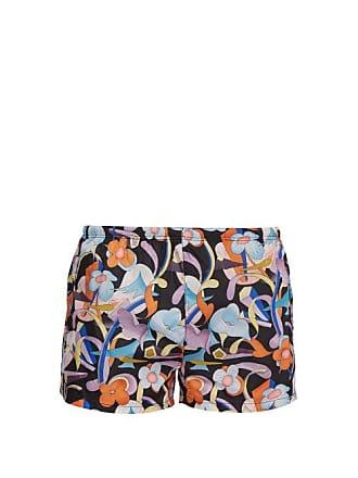 ccb43348b0 Prada Abstract Floral Print Swim Shorts - Mens - Black Orange