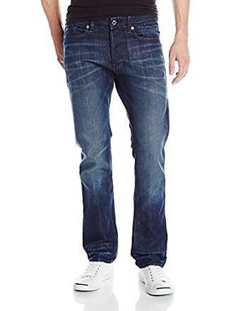 G-Star Mens 3301 Slim Straight Fit Jean In Neill Denim Dark Aged with 5 Pockets, Dark Aged, 33x32