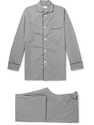 0bba4bad97 Kingsman + Turnbull   Asser Piped Gingham Cotton Pyjama Set - Black