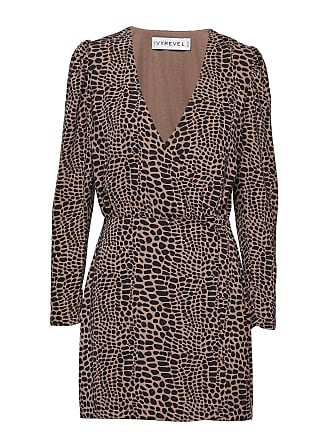 5dfab77cc549 IvyRevel Woven Wrap Mini Dress Knälång Klänning Brun IVYREVEL
