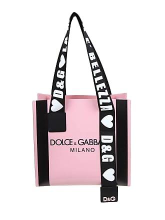 14e47a55bb Dolce & Gabbana Street logo print pink pvc shopping bag