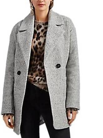 0c0fa0f47fca5 Avec Les Filles Womens Herringbone-Weave Cocoon Coat - Light Gray Size XS