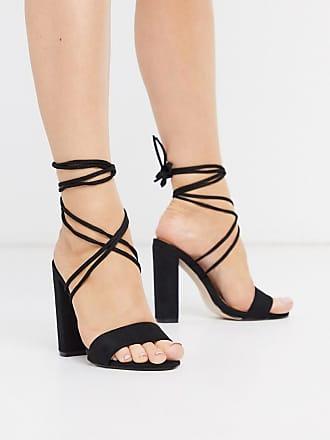Public Desire Paddington Schwarze Sandalen mit Schnürung und