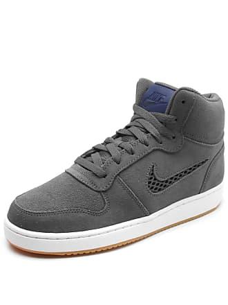 58e20706e69 Nike Tênis Couro Nike Sportswear Ebernon Mid Prem Cinza