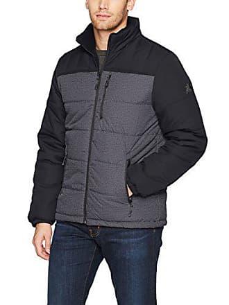 ZeroXposur Mens Flex Quilted Puffer Jacket, Black Denim, Large