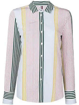 070522ee4 Tommy Hilfiger Camisa com padronagem listrada - Branco