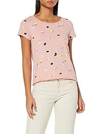 b60716ed5c521f EDC by Esprit Damen 039CC1K019 T-Shirt Rosa (Light Pink 690) X-