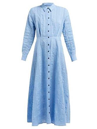 Mara Hoffman Michelle Linen And Cotton Blend Dress - Womens - Blue Print