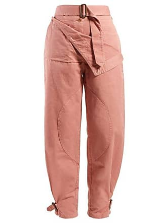 J.W.Anderson Jw Anderson - Folded Front Utility Trousers - Womens - Pink Multi