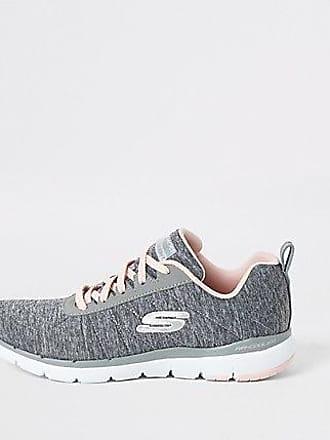 Skechers Womens Skechers grey Flex Appeal Insiders sneakers