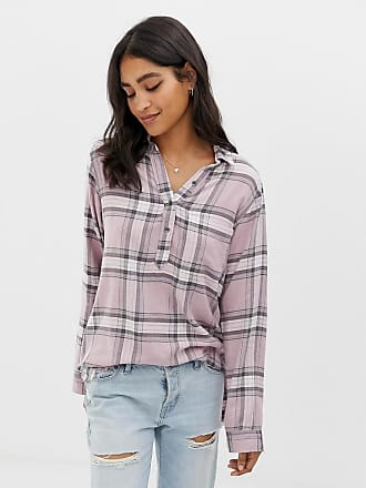 Abercrombie & Fitch drapey check shirt - Multi