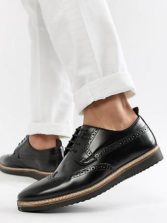 Asos Chaussures richelieu pointure large en cuir avec semelle compensée -  Noir - Noir d968a40f4a8a