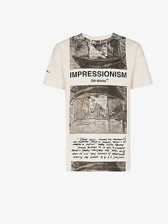 Off-white Newspaper Printed T-Shirt