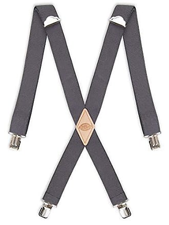 Dickies Mens Big and Tall 1-1/2 Solid Straight Clip Suspender, Charcoal, Extended Size