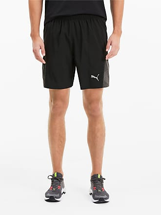 PUMA Shorts 'Keep Up Graphic' Damen, Grau Schwarz, Größe S