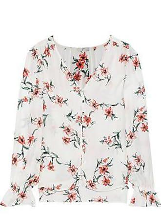 2e6186c3 Joie Joie Woman Bolona Floral-print Silk Blouse White Size XXS
