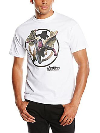 738ccf6bf11 MARVEL Avengers Age of Ultron Vision, Camiseta Manga Corta para Hombre,  Blanco 2XL