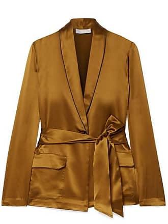 Fleur du Mal Silk-satin Jacket - Gold