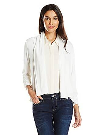 Ruby Rd. Womens Petite Solid Knit Cardigan with Shawl Collar, Bisque PL