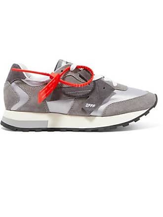 Off-white Hg Runner Suede And Shell Sneakers - Gray