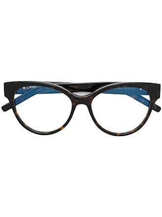 Saint Laurent Eyewear cat eye frame glasses - Marrom