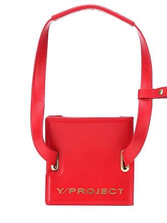 Y / Project Accordion leather shoulder bag