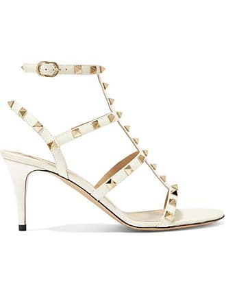 396de7a5 Valentino Valentino Garavani The Rockstud 70 Patent-leather Sandals - Ivory