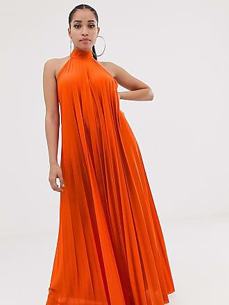 bb505de55fb7 Asos Petite ASOS DESIGN Petite backless halter pleated maxi dress - Multi