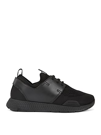 BOSS Unisex low-top sneakers with perforated mesh uppers