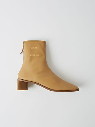 Acne Studios FN-WN-SHOE000111 Camel/beige Branded ankle boots