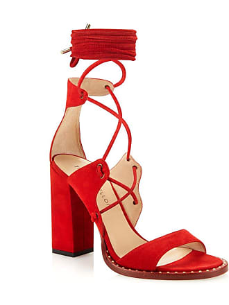 Tamara Mellon Dare Red Suede Sandals, Size - 35.5