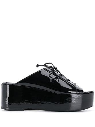 Maison Ernest platform lace-up mules - Black