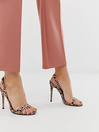 Qupid Qupid slingback barely there heeled sandals in leopard - Multi