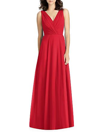 781283a7a6ea Jenny Packham V-Neck Sleeveless A-Line Lux Chiffon Bridesmaid Gown