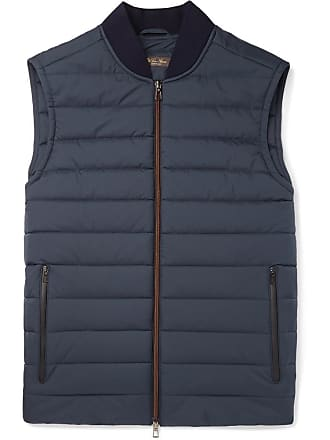 Loro Piana Ontario Slim-fit Green Storm System Quilted Shell Gilet - Navy