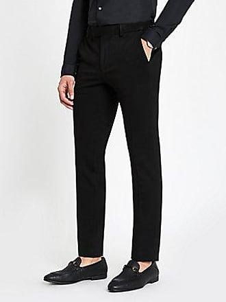 River Island Mens Black super skinny fit suit pants