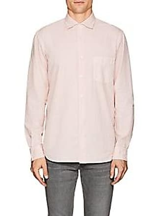 36de139e0dad29 Hartford Mens Penn Pat Cotton Shirt - Pink Size M