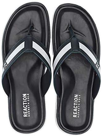 332162768c36 Kenneth Cole Reaction Mens Beach Sandal Flip-Flop, Navy, 10 M US