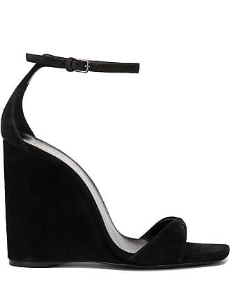 Saint Laurent Kim & Dare wedge sandals - Black