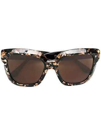 Emmanuelle Khanh square oversized sunglasses - Preto