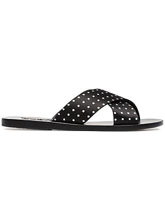 53217f8984d9 Ancient Greek Sandals black Thais polka dot satin slides