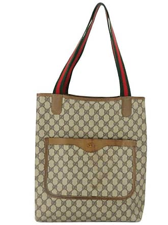 1637a8c8a98 Gucci Monogram Gg Supreme Large Web Shopper 868051 Brown Coated Canvas Tote